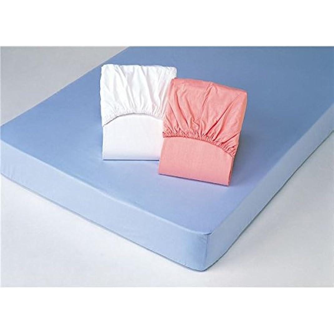 受信体操選手丁寧平織ボックスシーツ [クイーンサイズ] (同色2枚組み/ホワイト(白)) 綿100%