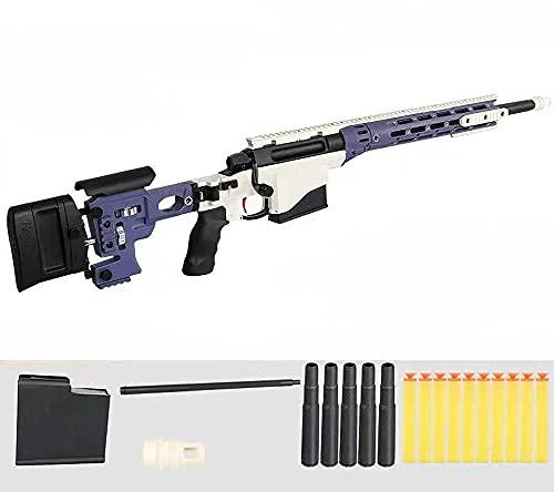 狙撃銃風おもちゃ銃スナイパーライフルク排莢再現スポンジ弾柔らかい弾丸の殻のおもちゃ