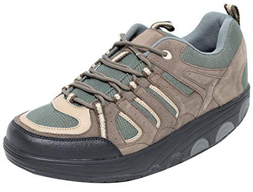 Dynamic24 AKTIV Herren Schuhe mit Spezial Rundsohle Gondelschuhe (45)