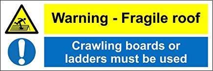Waarschuwing Fragile Dak Crawling Boards Of Ladders Moet Gebruik Veiligheid Teken Stickers, Waarschuwing Stickers Labels, Zelfklevende Vinyl,Veiligheid Let Let Let op Teken Stickers, 30x10CM