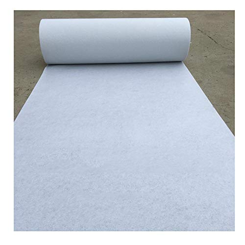 LXHONG Tappeto Passatoia for Corridoio,Monouso Morbido può Essere Arrotolato Tessuto Non Tessuto Natale Celebrazione del Matrimonio Supporto Personalizzato (Color : White, Size : 1x50m)