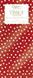 Caspari stampato seta 88321TIS un lato dimensioni di un pisello con un design d'argento