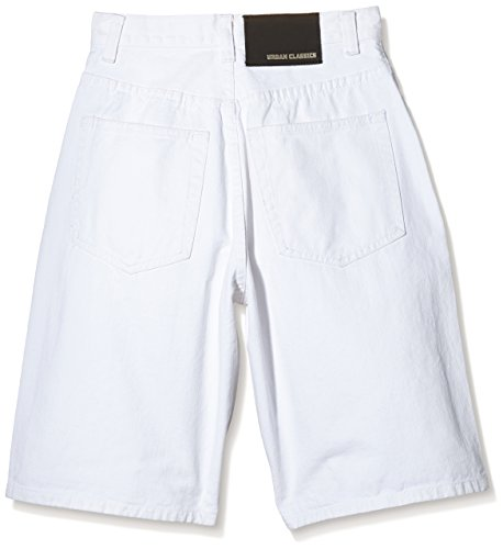 Urban Classics Kurze Hose Basic Jeans Shorts, Blanc (White), (Taille Fabricant: Small) Homme