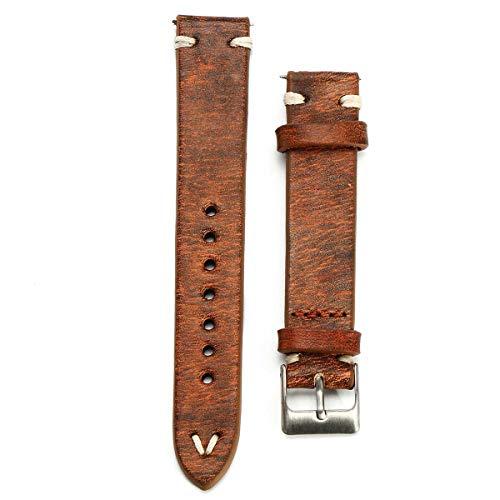 Correas de Cuero Vintage 18 Accesorios de Reloj de 24 mm Correa...