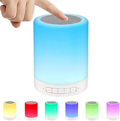 Ideales Atmosphäre Nachtlicht für Geburtstag/Valentinstag/Party - Bluetooth-Lautsprecher mit Nachtlicht, LED-Farbwechsel-RGB-Lampe - Geschenk für Kinder, Jugendliche, Frauen, Männer