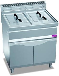 Friteuse gaz professionnelle sur coffre - 2 x 20 litres - 33 kW - Furnotel - 700