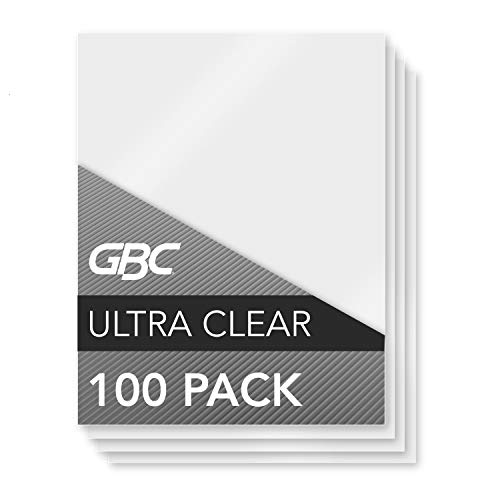 GBC Thermal Laminating Sheets / Pouches, Letter Size, 5 Mil, Heat Seal Ultra Clear, 100-Count (3200654)