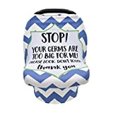 Terriboo Nursing Cover for Newborn Breastfeeding Multi Use Infant Stroller Canopy Unisex Baby Car Seat Cover High Chair Cover Shopping Cart Cover for Baby Boy and Girl from Terriboo