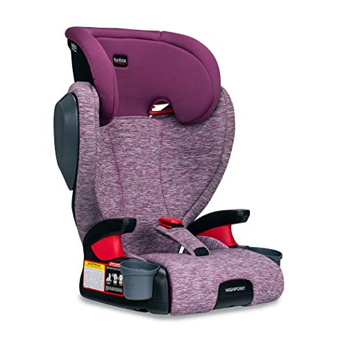 Britax Highpoint 2-Stage Belt-Positioning Booster Car Seat - Highback and Backless   3 Layer Impact Protection - 40 to 120 Pounds, Mulberry