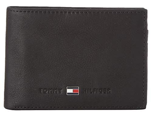 Tommy Hilfiger Herren Johnson Mini CC Flap and Coin Pocket Geldbörsen, Schwarz (Black 002), 11x8x2 cm