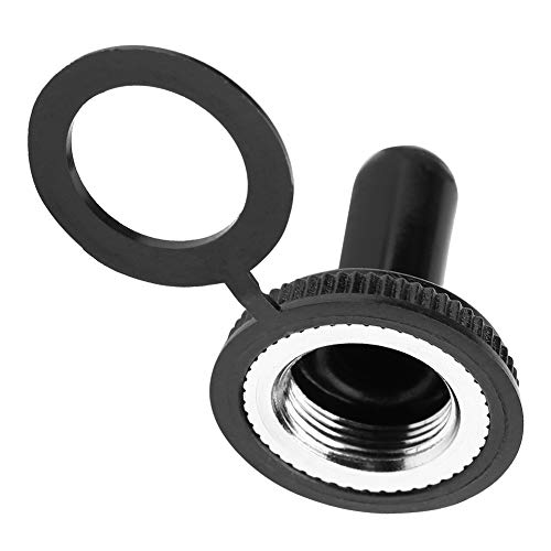 YOPOTIKA Interruptor Basculante de 12 Mm Tapa de Goma Impermeable Cubierta de Arranque Negro 20 Unids/Lote