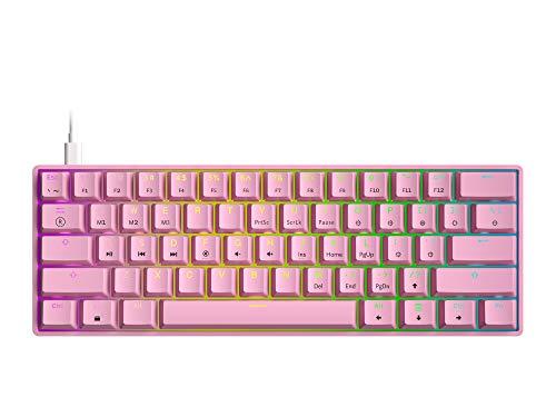 GK61 Mechanical Gaming Keyboard - 61 Keys Multi Color RGB Illuminated LED Backlit Wired Programmable...