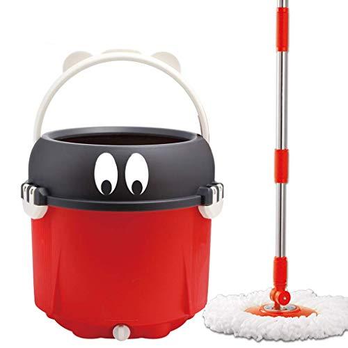 Magic Mop Lavado Dos en uno Bold Towing Spinning Mop Bucket Bar de Manos Libres Single Barrel Home Rotary Mop