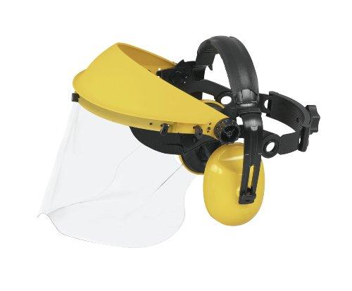 Preisvergleich Produktbild Universal Gehörschutz mit Kunststoff-Visier,  PRO004: Kapselgehörschutz mit ohrenumschließenden Kapseln,  schalldämmend,  optimaler Schutz bei Gartenarbeiten (Artikel-Nr. 00057-76.165.04)