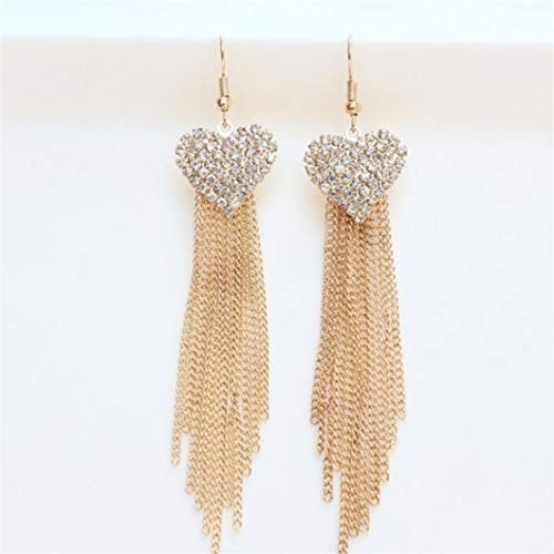 Sperrins 1 paire gland boucle d'oreille pêche coeur longue boucle d'oreille alliage femmes boucle d'oreille cadeau de bijoux élégant, or
