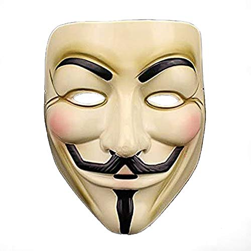 VintageⅢ Hallowee Gesichtsmaske V Für Vendetta Guy Fawkes Maske Anonyme Maske, Kostümparty Maske, Erwachsenenmaske, Party Maske