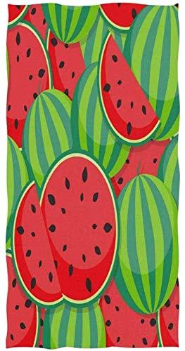 Toalla de impresión Personalizada de Fruta de sandía de Dibujos Animados 27,5 'x 15,7' Toalla de Cara Suave Absorbente Toalla de baño de Cocina para el hogar