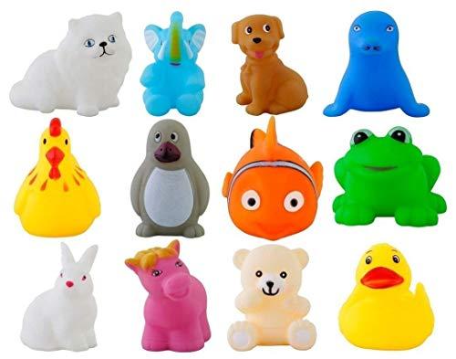 Storio Colorful Floating Baby Toys Bath Aquatic Animals Chu Chu Toys for Newborn Babies, Kids