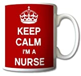 Tazza con scritta 'Keep Calm I'm A Nurse', idea regalo retrò