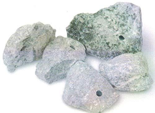 artdee 5 Speckstein Amulett-Anhänger mit Loch - Rohlinge