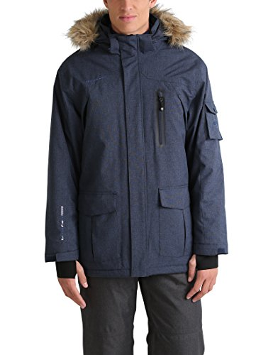 Ultrasport Advanced Softshell Parka Finley, lang, winter-/outdoorjas, ski-/snowboardjas, softshelljas, duimlussen, capuchon met afneembaar imitatiebont, opgestikte zakken