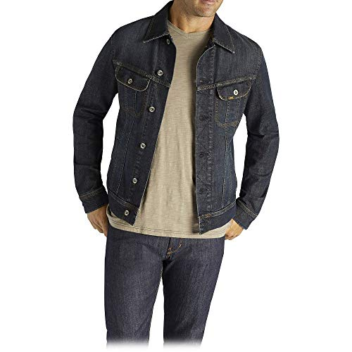 Lee Men's Denim Jacket, Strong Arm, Large
