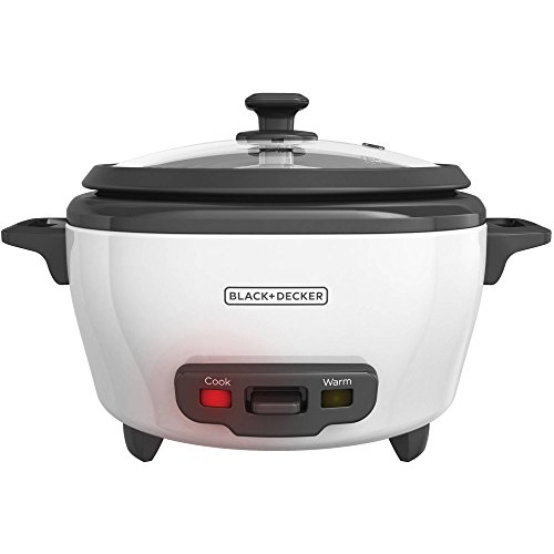 Black & Decker Rice Cooker 6 Cups Of Cooked Rice White Base...