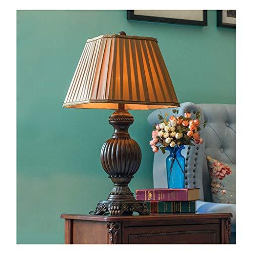 Lampe de bureau lampes de table vintage salon décoration européenne rétro chambre table de chevet lumière tissu ombre