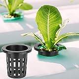 Emoshayoga Macetas de Red de Malla de siembra sin Suelo Reutilizables 10 unids/Set Canasta hidropónica Segura para plantación de Jardines para Cultivo de Semillas de acuaponía(Black)