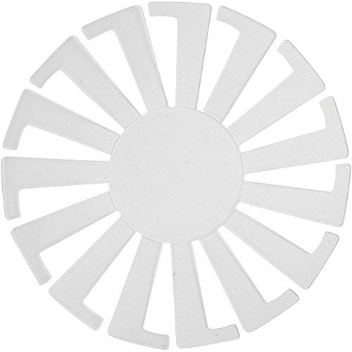 Vorlage für gestrickte Körbe, Durchmesser: 8 cm, A. 6 cm, transparent, 10 Stück