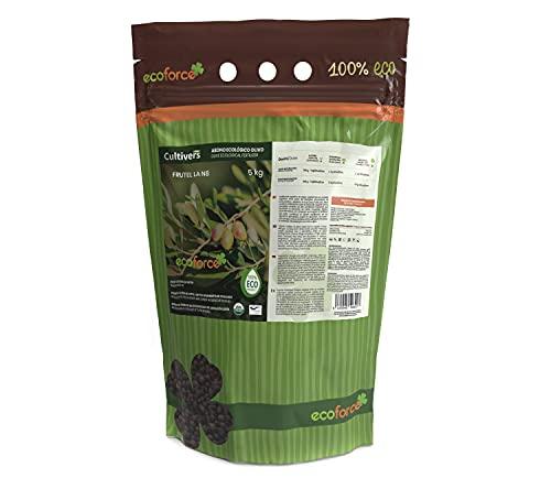 CULTIVERS Abono - Fertilizante Ecológico de 5 Kg Especial Olivo y Plantas Mediterráneas. Origen 100% Orgánico y Vegano. Mejora la Productividad de los Cultivos