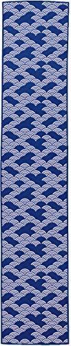丸和貿易 小江戸クールタオル 20×100cm 青海波