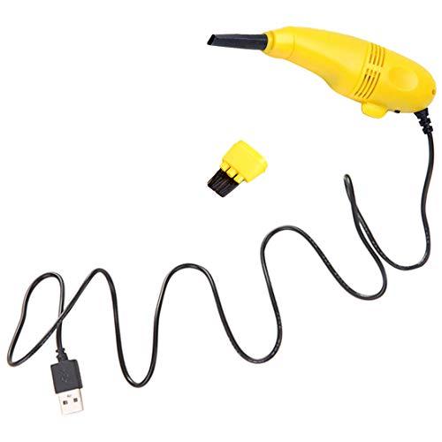 uu19ee Mini USB Aspiradora con Cepillo para Portátiles Ordenadores Portátiles Ordenador Portátil Teclado Teléfonos Móviles, Teclado Colector De Polvo Hoover