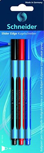 Schneider Slider Edge XB Kugelschreiber (Strichstärke: XB, dokumentenecht, Dreikant-Stift) 3er Pack