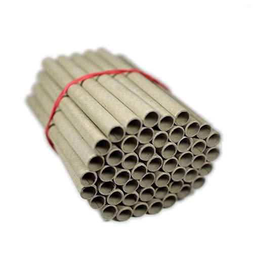 URBAN BEES 500 Papierhülsen für Insektenhotel zum selber Bauen (Bausatz) als Bruthülsen, Papphülsen, Nisthülsen, Pappröhrchen - 8mm x 10mm x 120mm für Bienen/Wildbienen