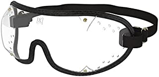 KROOPS Ultra Clear Goggles for Skydiving, The Perfect Protection from Wind, dust, Dirt, Pollen - Clear Lens with Adjustable Headband, Made in The USA.