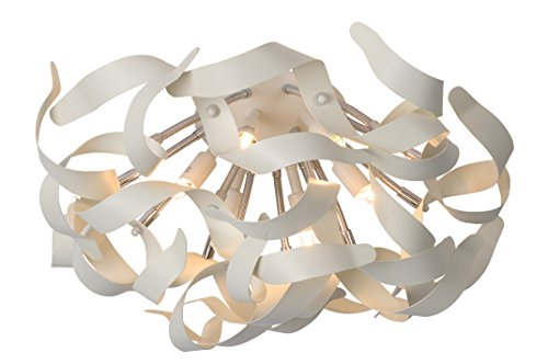 Lucide 13109/26/31 Atoma Plafonnier 28 W 6 x G9 230 V Diamètre: 50 cm Blanc