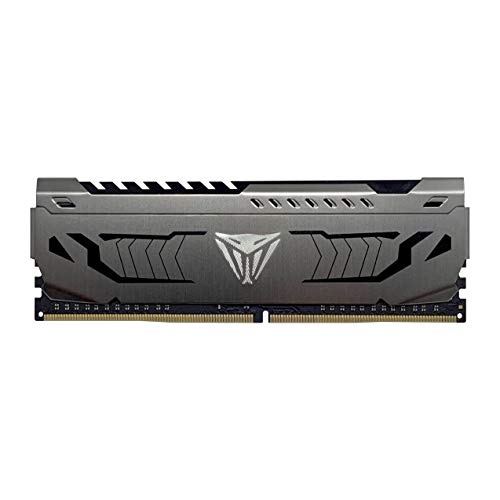 Patriot Viper Steel RAM DDR4 3000 Mhz 16GB (1x16GB) C16 Memoria Gaming XMP 2.0 Grigio