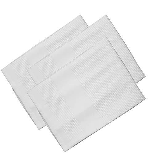 Microfaser Geschirrtücher 68 x 42 cm aus Polyester in 4 verschiedenen Farben, Farbwahl:Weiß, Set-Größe:3-teiliges Set