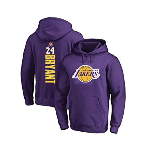 Sudadera de baloncesto para hombre y mujer, con capucha de Los Angeles Lakers #24, Kobe Bryant, para deportes y ropa casual