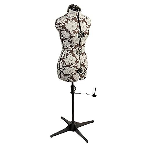 Maniqui Costura Ajustable Hollyhock Gris 8-Partes | Pequeño (S) [Talla EUR 38 a 44]