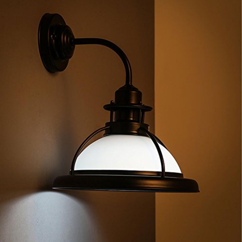 ZXW Vintage Eisen Wandleuchte, Wohnzimmer Schlafzimmer Korridor Gang Restaurant Bar Dekoration Lampe, E27 Lichtquelle (Farbe   Wei)