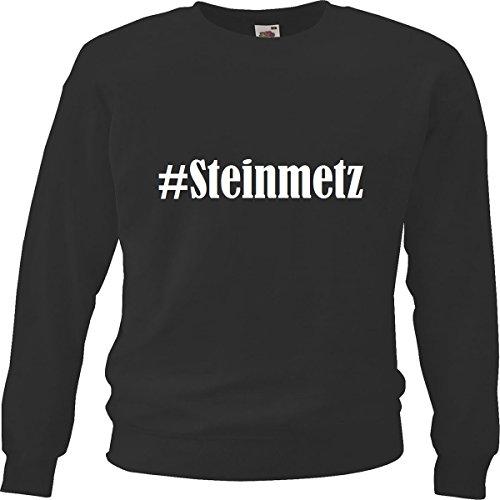 Reifen-Markt Sweatshirt Damen #Steinmetz Größe 2XL Farbe Schwarz Druck Weiss