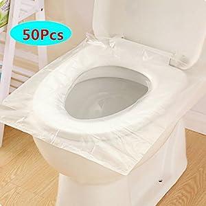 Fundas de papel para asiento de inodoro 50 piezas, Annhao Viaje Paquete