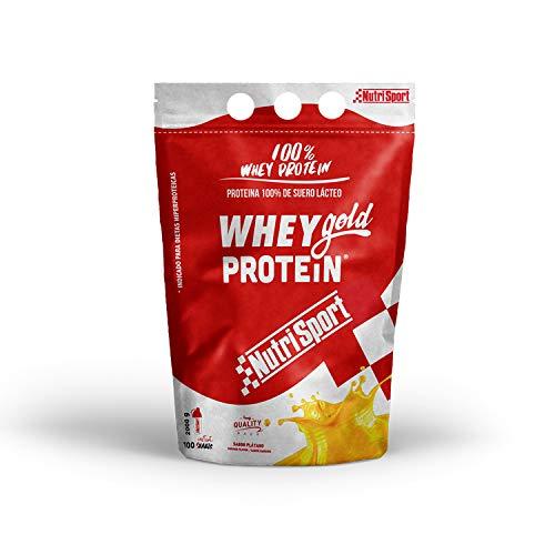 Nutrisport - Whey Gold Protein, Proteínas en Polvo para Batidos, Sabor Yogur Plátano, 2 kg