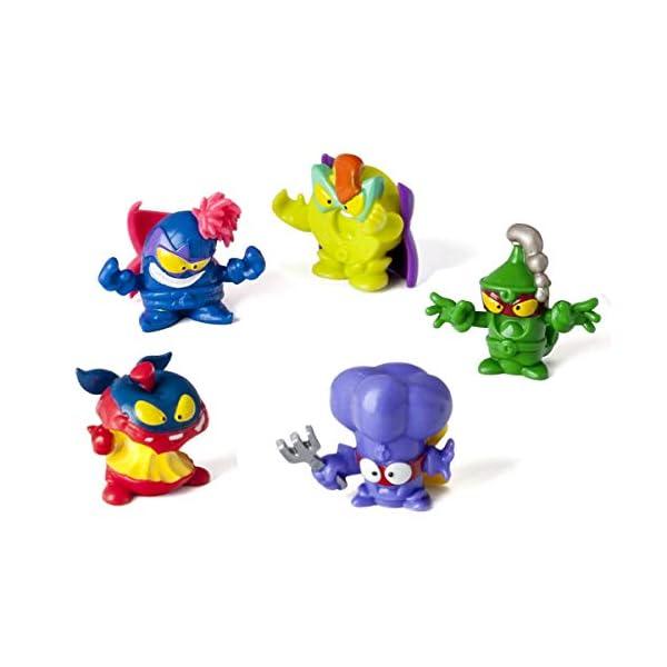 SuperZings – Serie 4 – Blíster con 10 figuras (PSZ4B016IN00), 9 Figuras y 1 Figura Dorada Super Rare