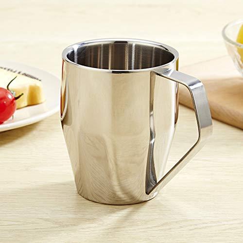 QLTY Taza de café de Acero Inoxidable (340 ml),Jarra de Cerveza,Vasos de Cerveza,jarras de Cerveza,Taza de Agua de Acero Inoxidable para Exteriores,Vasos para Beber, Vasos de Whisky