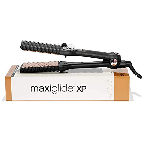 Maxiglide XP Hair Straightener and Styling Tool by Maxius with Retractable Pins for Detangling Best Flat Iron Thick and Curly Hair Steamburst Technology for Faster and Healthier Straightening