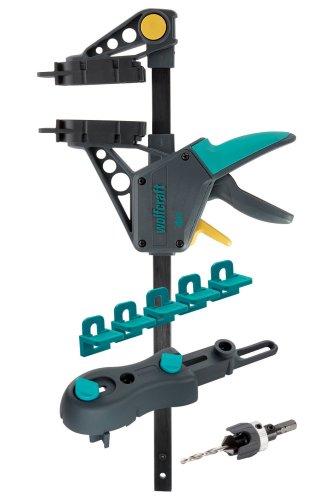 Wolfcraft Terrassenbau-Set 6988000 / 10-teiliges Werkzeug Komplett-Set für eine schnelle und präzise Terrassenmontage / Ideal für Heim- & Handwerker