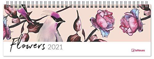 Flowers 2021 - Tischquerkalender - Tischkalender - 29,7x10,5